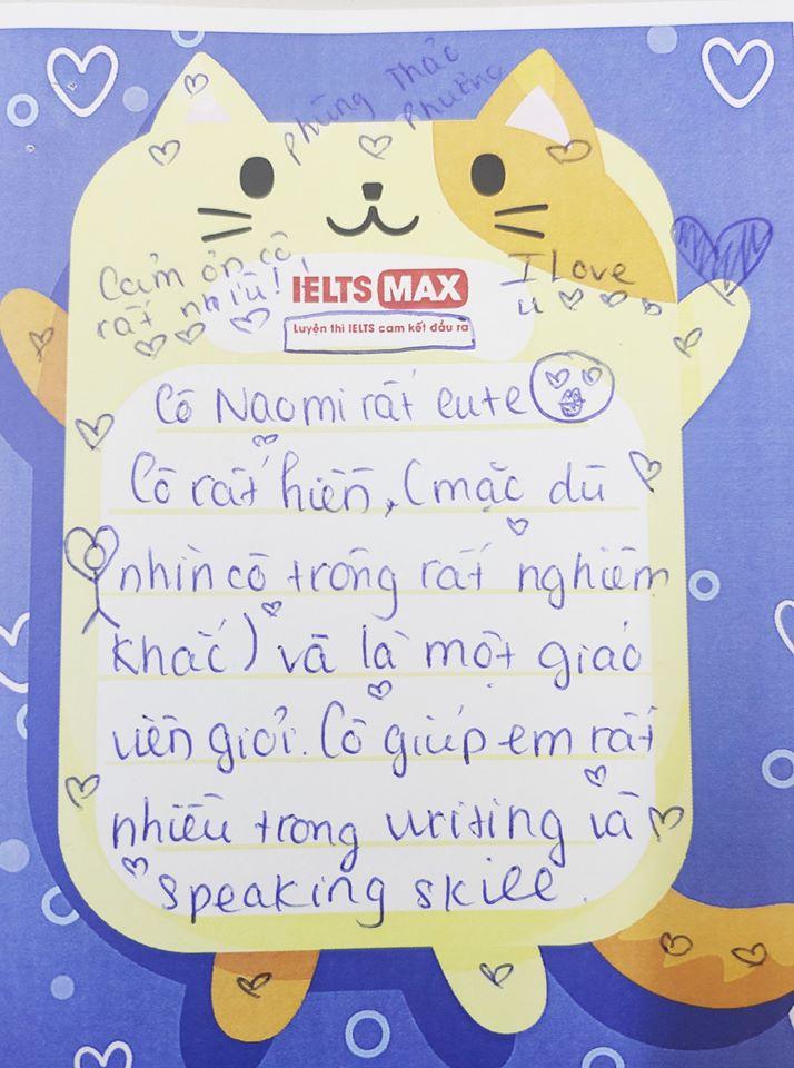 Cảm nhận học viên IELTS MAX - cô Naomi Hồng Anh